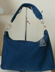 CHANEL Denim Hobo Shoulder Tote Bag with Plastic Clear Chain Free Cosmetic Bag $650.00