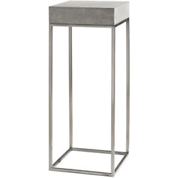 Uttermost 24806 Jude Plant Concrete And Stainless Steel Plant Stand