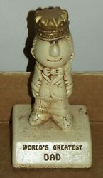70s Vintage Figurines Worlds Greatest Dad Little Trophies By Paula 1976