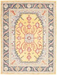 Vintage Hand-knotted Carpet 9and0391 X 12and0390 Traditional Oriental Wool Area Rug
