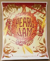 Pearl Jam Poster Charlotte 2013 Art By Munk One