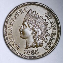 1865 Indian Head Cent Penny Choice Bu Uncirculated Ms Free P/h E112 Acnr
