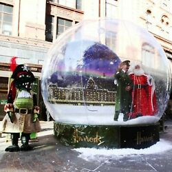 4m Christmas Inflatable Snow Globe Bubble Dome Luxury Outdoor Camping Tent