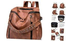 Women PU Leather Backpack Purse Convertible Ladies Fashion Casual A abrown $55.60