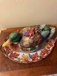 Fitz And Floyd Duck Tureen With Platter