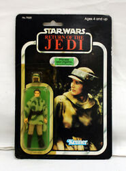 Vintage Star Wars Rotj Carded Princess Leia Combat Poncho C5y Marker Touch-up