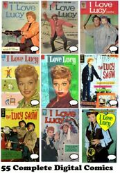 I LOVE LUCY 55 Comics Dell Gold Key LUCILLE BALL Complete Run Digital DVD 1954
