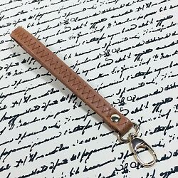 Brown Wristlet Strap Replacement 7 in with Gold Toned Lobster Clasp Purse Bag $8.99