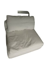 Restoration Hardware Modular Cloud Luxe Armless Chair White Add On Piece