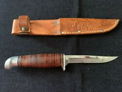 Vintage Keen Kutter Shapleigh Hardware Fixed Blade Hunting Fishing Knife