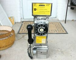 Vintage Chrome Mts Pay Phone Gray Telephone Pay Station Co And Western Electric Co