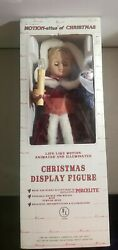 Telco Motion-ettes Of Christmas Girl Caroler Animated Lighted Figure Candles