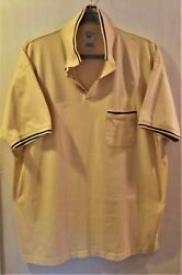 Harbor Bay By Dxl Big And Tall Yellow And Black Polo Size 3xlt Rn58805