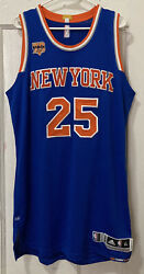 Ny Knicks Derrick Rose Adidas Rev 30 Pro Cut Team Issued Jersey Xl Authentic
