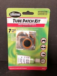 Slime Rubber Tube Patch Kit Glue Repair Puncture Tire Wheel Atvs Mowers Bicycles