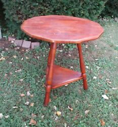 Vintage Cushman Colonial Creations 5150 Two Step Tier Wood Round Table W/tag