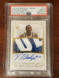 2013-14 National Treasures Gold Victor Oladipo Rpa Rc Patch Auto /25 Psa 9 Mint