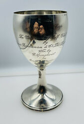 Henry Atkin Antique English Sterling Silver Golf Trophy Cup Goblet 367.2 Grams