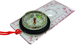 Ust Deluxe Map Compass With Raised Base Plate And Swivel Bezel For Hiking, Campi