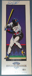 Kirby Puckett Autographed Signed 1991 Twins Tcf Poster Print Beckett Auth.