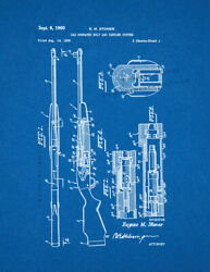 Gas Operated Bolt And Carrier System Gun Patent Print Blueprint