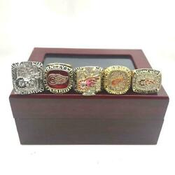 Detroit Red Wings Nhl 5 Rings Set Championship Ring Set With Box Gift Fans 2021