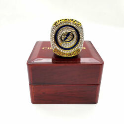2020 Ring Tampa Bay Lightning Gold Color Championship Ring Set With Box Newest