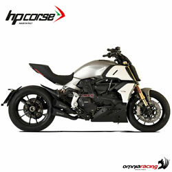 Hpcorse Hydoform Short R Pair Of Exhaust Black Racing For Ducati Diavel 1260