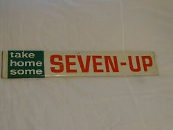 Vintage Soda 7 Up Metal Sign 1960s Stout Sign Co St Louis Mo Take Home Some