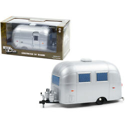 Airstream 16 Bambi Sport Camper Travel Trailer Silver With Curtains Drawn Hit...