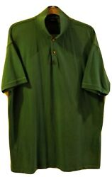 Harbor Bay By Dxl Big And Tall Green Short Sleeve Pullover Polo Size 3xlt Rn58805