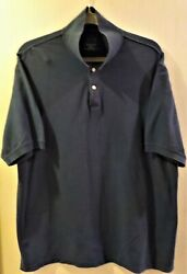 Harbor Bay By Dxl Big And Tall Navy Blue Polo Size 3xlt Rn58805