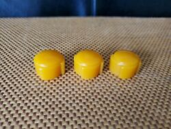 Set Of Reproduction Addison Model 5 Courthouse Catalin Radio Knobs Butterscotch