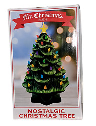 Vintage Mr. Christmas Ceramic Christmas Tree 14 In. Led's Retro 1970's Table Top