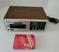 Vintage Panasonic Rs-805us 8-track Stereo Tape Deck Player Recorder. Tested