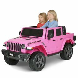 12 Volt Jeep Gladiator Battery Powered Ride On Vehicle Pink - Free Shipping