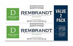 Rembrandt Deeply White + Peroxide Whitening Toothpaste Peppermint 3.5-oz 2pc