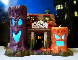 Dept 56 Snow Village Halloween Wicked Wax Works Very Cool Color Changing, Rare