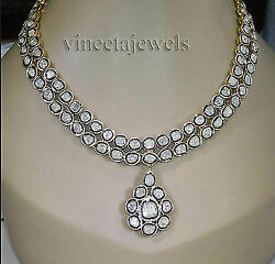Vintage Inspired Sterling Silver 12.00ct Antique Cut Diamond Necklace W345