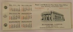 1944 Rutherford Nj National Bank Celluloid Advertising Fountain Pen Blotter