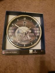 New Nfl Dallas Cowboys Team Officially Licensed 12 Chrome Wall Clock Man Cave