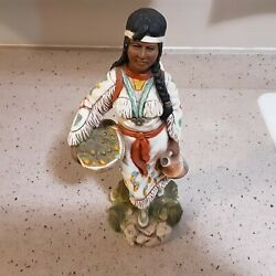 Vintage Native American Woman With Child Universal Statuary Corp. 1978 Chicago
