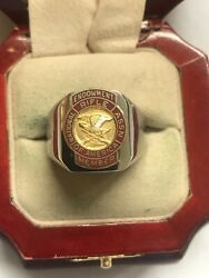 New Men's Heavy Solid Stainless Steel National Rifle Association Endowment Ring