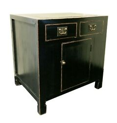 Antique Chinese Ming Sideboard Black Lacquer 3470 Circa 1800-1849