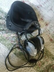 Pilot Headphones Softcomm Model Pro-am Stereo Headset With Mic Two Way
