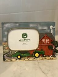 John Deere Tractor Dog Picture Photo Frame 3d Resin Tabletop Displays 4 X 6 New