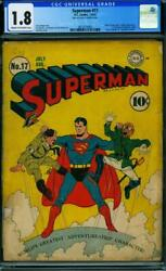 Superman 17 [1942] Certified 1.8 Scales Of Justice