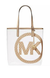 Michael Kors The Michael Bag Large North South Tote Camel Transparent Logo Nwts $85.00
