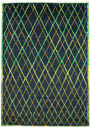 Modern Hand-knotted Carpet 8'10 X 12'6 Oriental Wool Area Rug