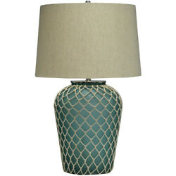 Crestview Collection Cvidza021 Frazier Table Lamp Handfinished Frosted Blue
